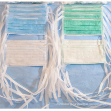 Fluid Resistant Surgical Mask Tie on 160 mm Hg High Filtration Bfe Pfe 99 ASTM Level 3, TUV Nelson Report