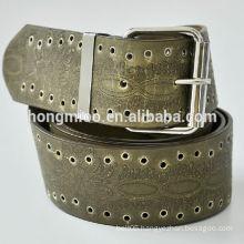 cowboy belt patent leather letter decoration man belt PU carving belt