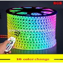 Alto vlotage smd5050 Impermeable 100 m 220 V RGB Led tira de luz