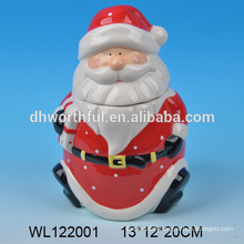 Ceramic container seal with Santa Claus design