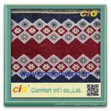 Forme a nuevo la última tela suave de la deign de la tapicería del telar jacquar del poliéster del estilo