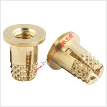 Top-Slotted Outer-Knurled Thread Insert Nut