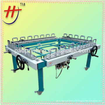 hot sale of semi automatic double clamp mesh stretching machine on sale