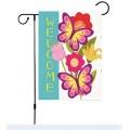 Burlap Garden Flag Diy Outdoor Decor