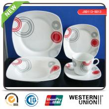 Vajilla de la porcelana de la venta directa de la fábrica