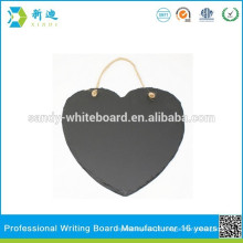 Não emoldurado chalk bordo forma coração