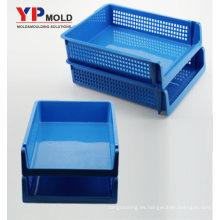 Organizador de archivo de escritorio doble plástico superventas de encargo para el moldeo por inyección / los útiles plásticos de la oficina