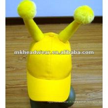 Capsules drôles de corne, casquettes de sport de carnaval, casquettes de fête, casquettes d'utilisation promotionnelle