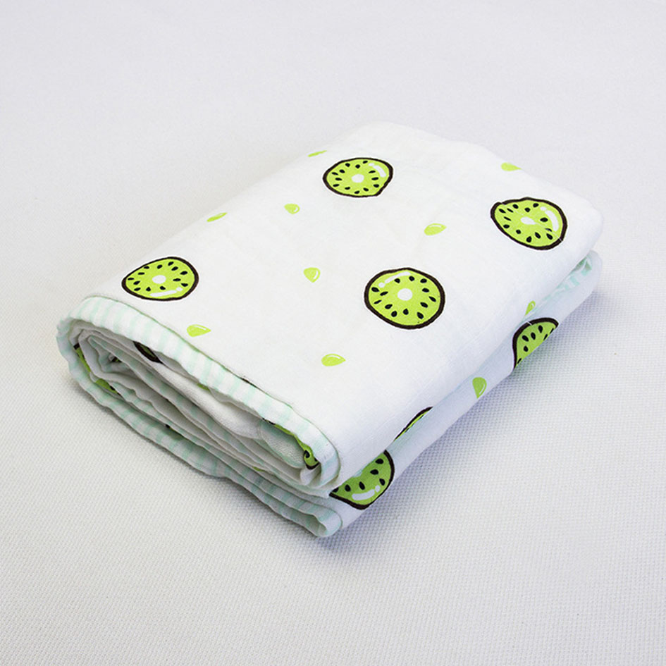 Custom Printed Design Blanket Swaddle Baby Muslin Wraps
