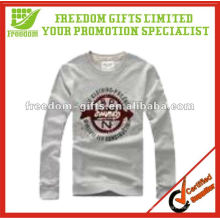 Top Quaity 100% Baumwolle Langarm Herren T-Shirt