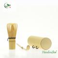 Set de té de bambú para viajes Mini Whisk Utensil Canister