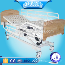 High density wood 3 functions electric nursing bed