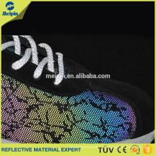 Tela colorida de cuero sintético para zapatos