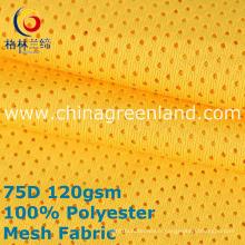 Maille 100% polyester tricoté pour la chemise de vêtement (GLLML390)