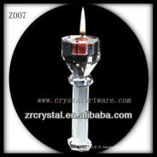 Bougeoir en cristal populaire Z007
