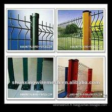 (Vente chaude) le poste de PVC revêtu d'électricité après clôture en maille galvanisée