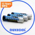 Bateria alcalina super do AAA com o revestimento da folha de alumínio