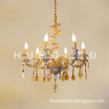 chandelier decorative polyester pendant lamp with led bulb