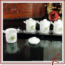4 pcs pots de especiarias de cerâmica