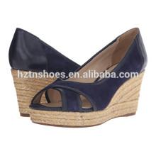 2016 Summer Ladies Wedge Chaussures Women High Heel Pump
