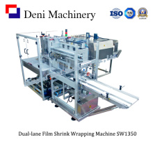 Dual-Lane Film Shrink Packing Machine para caixas