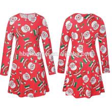 2017 New Fashion Winter Christmas Women Dress Boutique Outfits Plus Size Clothes Women