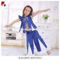 Salwar blue royal suit coat & pant 2 piezas