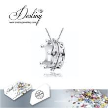 Destin bijoux cristal de Swarovski collier Couronne pendentif