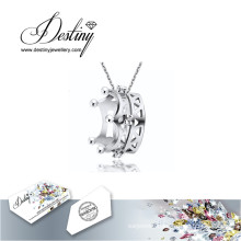 Destiny Jewellery Crystal From Swarovski Necklace Crown Pendant
