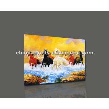 Pintura al óleo colorida al por mayor de la lona del cuadro del caballo
