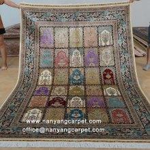 6'x9'Hand Knotted Four Season Garden Design Persian Rug
