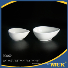 2015 new fashion online sell hotel white ceramic small plate