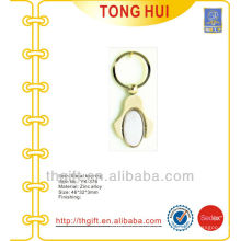 Metal small oval blank keychain/keyrings for promotion gifts
