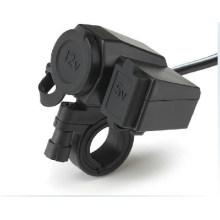 Nueva motocicleta 12V USB encendedor de cigarrillos Puerto de alimentación de integración Toma de corriente 5V USB Cargador de alimentación Socket