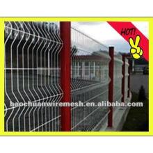 Vinly cuadrados malla de alambre de cerca y poste