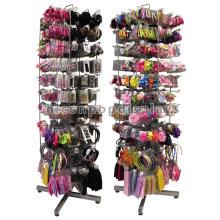 Cubierta del estante del arco del pelo de la castaña del piso del metal, accesorios giratorios del pelo Cubierta de exhibición del lazo