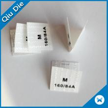 Étiquette de chaussette en polyester personnalisée pour vêtement de marque
