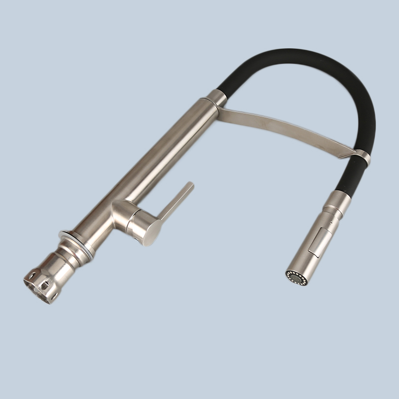 Stainless Black Steel Hose Type Kitchen Faucet 2