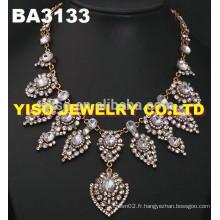 Ensemble de bijoux en cristal de style nouveau