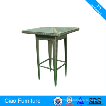 Wicker bar furniture bar table