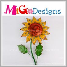 Neue Art-Metallsonnenblume-Wand-Plaketten-Ausgangsdekoratives