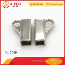 Clip de extremidade de cabo de níquel metal de alta polimento com anel o