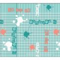 Nouveau Design Spunlace Support PVC Imprimé Nappe Usine (TJ3D0004)