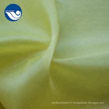 Tissu de taffetas de polyester doux antistatique résistant au rétrécissement