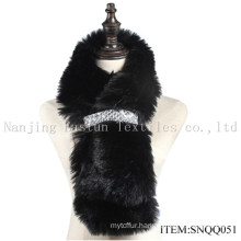 Faux Raccoon and Fox Fur Scarf Snqq051