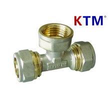 Raccord de tuyau en laiton - Té femelle -Laser ou tube de chevauchement, Raccord de tube multicouche