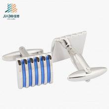 Новый дизайн цинковый сплав металл серебро ремесла пользовательские Запонки для мужчины