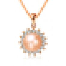 Женский натуральный жемчуг солнце-образный ожерелье кулон с цепочкой