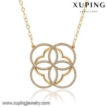 43007 Xuping simple imagen último diseño collar de joyas de oro saudita