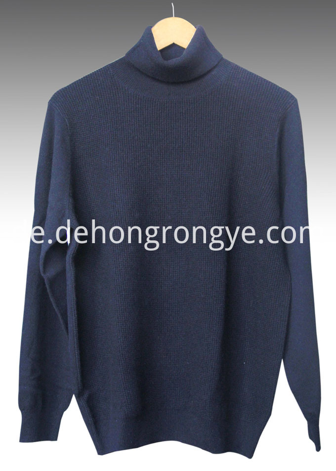 Navy Blue High Necked Cashmere Men S Sweater